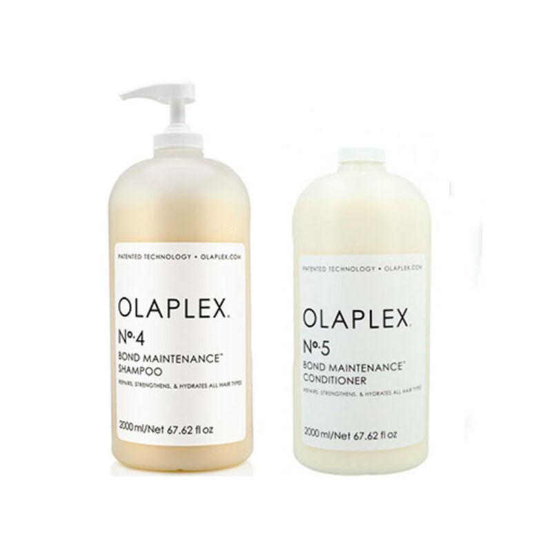 OLAPLEX HAIR MAINTENANCE NO.4 HAJMEGÚJÍTÓ sampon (2000 ML) + OLAPLEX HAIR MAINTENANCE NO.5 HAJMEGÚJÍTÓ BALZSAM (2000 ML)